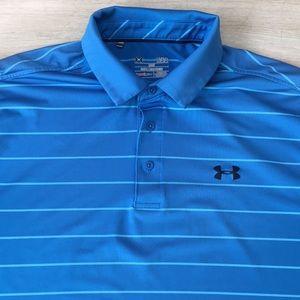Under Armour Striped ColdBlack Golf Polo Shirt